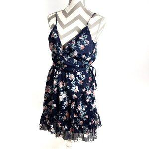 Abercrombie & Fitch | Navy floral wrap dress | L